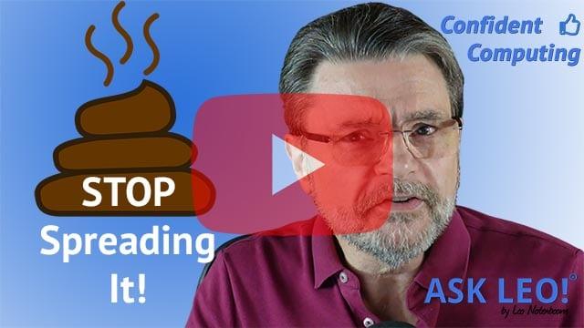 Confident Computing #827 - Stop Spreading Manure