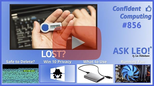 Confident Computing #856 - The Easy-to-Avoid Two-Factor Loss Risk