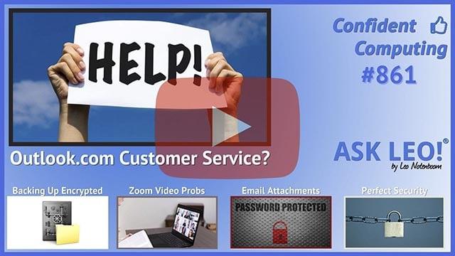 Confident Computing #861 - How Do I Contact Outlook.com Customer Service?