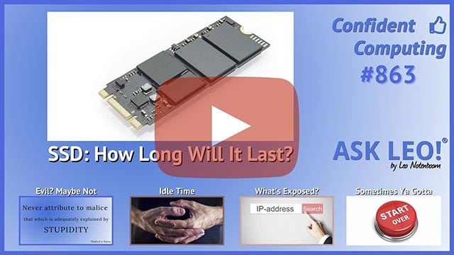 Confident Computing #863 - How Long Will My SSD Last?